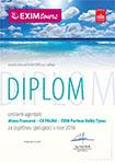 Diplom EXIM Tours pro CA PALMA Olomouc 2016