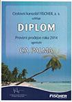Diplom CK Fischer: provizní prodejce roku 2014 agentuře CA PALMA