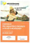 certifikát nejlepšího prodejce eurovíkendů ck neckermann