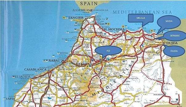 Mapa Maroko Saidia Mapa