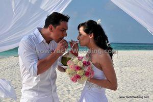 svatba a svatební cesta na Maledivách