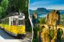 Vyhlídkovou tramvají přes hory k vodopádu Saského Švýcarska