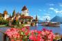 Švýcarský Thun u jezera, hrad Oberhofen i městečko Spiez
